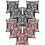 Abtractive Design Cushion Covers Combo Black & Brown 40 X 40 Cms(10 Pcs Set)