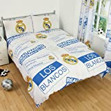 Real Madrid Official Double Duvet Cover Set - Multi-Colour