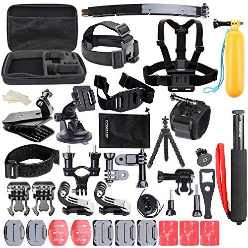 Accessoires pour Gopro, ccbetter 50 en 1 Sports Action Camera Accessoires pour GoPro Hero 5 4 Session Hero 1 2 3 3+ avec ccbetter CS710 CS720W + SJ400...