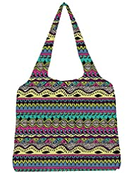 Snoogg Azter Pattern Flowy Womens Jhola Shape Tote Bag