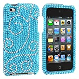Bling Flourish Diamante For Apple Ipod Touch 4g 4th Generation Hard