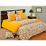 Swayam Shades Of Paradise Printed Cotton Single Bedsheet With 1 Pillow Cover - Yellow (SBS11-3701 )