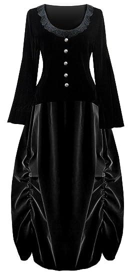 Steampunk Dresses and Costumes            Victorian Valentine Steampunk Gothic Civil War Velvet Womens Top & Skirt                                                            Victorian Valentine Steampunk Gothic Civil War Velvet Womens Top & Skirt                               $109.00 AT vintagedancer.com