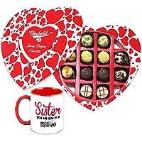 Rakhi Gift For Sister - Bring Happiness Chocolate And Mug Gift Combo With Rakhi - Chocholik Belgium Chocolates