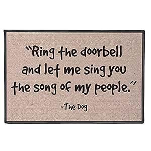 Amazon.com : Funny Doormat - Ring The Doorbell And Let Me