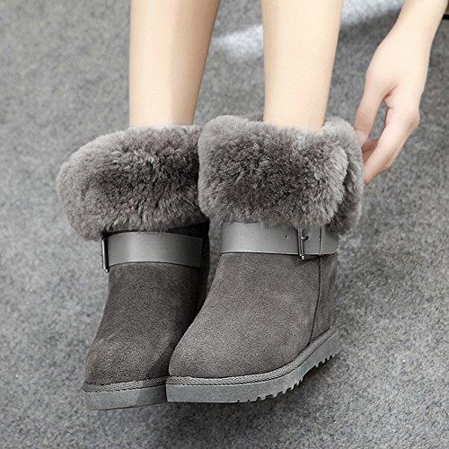 Schafsleder Schneeschuhe in der Röhre in der höheren weiblichen Baumwolle Stiefel weibliche Baumwolle gepolsterte Schuhe
