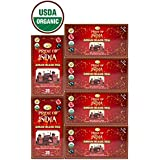 Pride Of India - Organic Indian Assam Breakfast Black Tea, 25 Count (6-Pack)