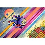 Tallenge Art For Kids Room Décor - The Naughty Planet - A3 Size Rolled Poster