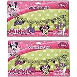 Disney Minnie Mouse Charm Bracelet 2 Pack