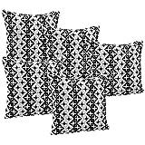 Idrape Polyester 5 Piece Cushion Cover Set- Black, 40 Cm X 40 Cm