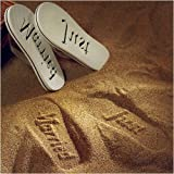 Just Married Flip Flops, Large, White