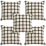 Idrape Polyester 5 Piece Cushion Cover Set- Beige, 40 Cm X 40 Cm - B013UCRXMC