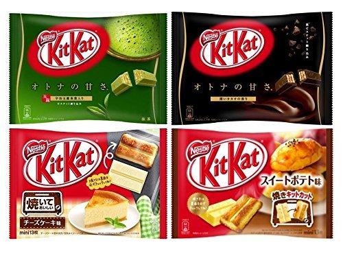 ネスレ kitkat キットカット アソート4種(抹茶 Matcha・カカオ・チーズケーキ・スイートポテト) 合計4袋
