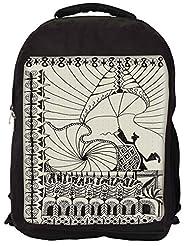 Snoogg Abstract Play Card Vintage Backpack Rucksack School Travel Unisex Casual Canvas Bag Bookbag Satchel