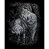 Royal And Langnickel Silver Engraving Art, Wolves In Trees