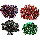Eshoppee Fancy Glass Beads For Jewelery Making And Home Decoration 400 , 150 - 200 Beads Approx