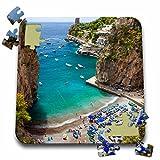 Danita Delimont - Beaches - Beach in the rocky coastline of Amalfi near Praiano, Campania, Italy. - 10x10 Inch Puzzle (pzl_209366_2)