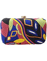 The Indian Handicraft Store Women's Clutch Colourful Leaves