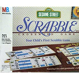 Click to buy Sesame Street games: Scrabble from Amazon!