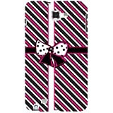 For Samsung Galaxy Note N7000 :: Samsung Galaxy Note I9220 :: Samsung Galaxy Note 1 :: Samsung Galaxy Note GT-N7000 Stripes Pattern ( Stripes Pattern, Pattern, Stripes, Ribbon, Black Background ) Printed Designer Back Case Cover By FashionCops