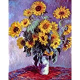 The Museum Outlet - Still Life With Sunflowers By Monet - Poster (24 X 18 Inch)