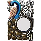 Ghanshyam Art Wood Peacock Wall Mirror (30.48 Cm X 4 Cm X 45.72 Cm, GAC087)