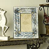 Casa Decor Premium Collection Of Wooden Photo Frame 4x6 Photos Xmas Hanging Or Table Top Decorations With Rustic Design Vintage Blue