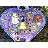 Disney Park Snow White Fashion Doll Set Plastic Outfits In Case NEW