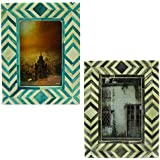 Christmas Gifts - Combo Of Wood Picture / Photo Frame For 4x6 Pictures With Stand Double Use For Horizontal /...