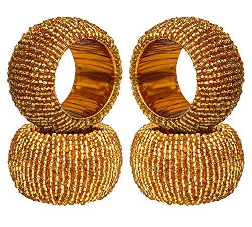 Handmade beaded napkin rings