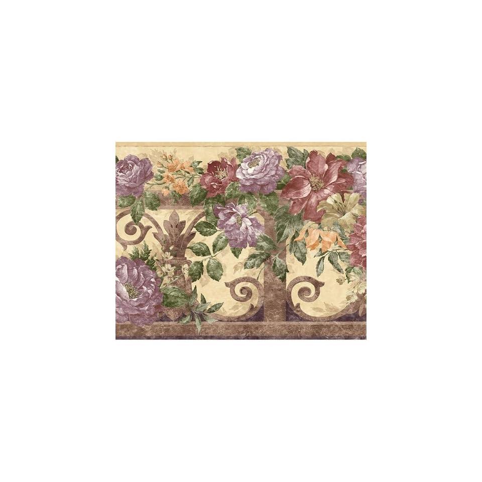 Purple Violet Floral Wallpaper Border On Popscreen