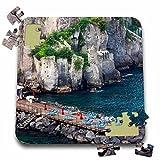 Danita Delimont - Coastlines - Italy, Sorrento, Amalfi Coastline, Sun Bathing Dock - EU16 TEG0513 - Terry Eggers - 10x10 Inch Puzzle (pzl_138322_2)
