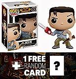 Ash: Funko POP! Horror Movies x Evil Dead Vinyl Figure + 1 FREE Classic Sci-fi & Horror Movies Trading Card Bundle [34072]