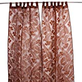 Store Indya Curtain For Window Drapery Hand Woven in Polyester with Floral Prints for Living Room Bedroom Home Décor Accents