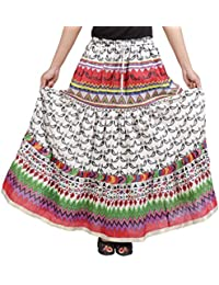 Gorgeous Multicolor Cotton Printed Skirt