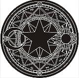 Afycolor Anime Sakura Magic Circle Lolita Carpet Rug Round 24'' lz (black)
