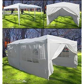 New 10' X 20' EZ Pop Set Up Canopy Tent Gazebo Includes 4 Sidewalls White