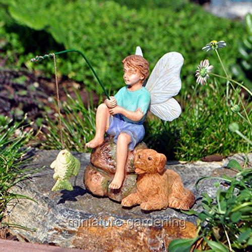 (Ship from USA) Miniature Fairy Garden Gone Fishin' *JPOU842H5ET1935