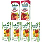 Tropicana Juice, Mixed Fruit, 200ml (Pack Of 4) With Essentials Fruits And Veggies, 200ml (Pack Of 2)