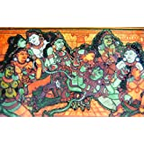 "Dolls Of India ""Krishna With Radha And Other Gopinis"" Reprint On Paper - Unframed (46.99 X 29.21 Centimeters)"