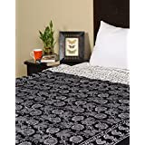 Rajrang Indian Cotton Hand Block Printed Single Quilt Winter Quilts