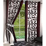 Home Pictures (Set Of 4) Suprimo Kolaveri Polyester Curtains (Door- 4ft X 7ft) Brown