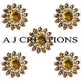 A J Creations (TM) Diwali Diya Lights Candle Holder Home Decoration, Set Of 5