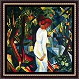 Couple In The Forest By Macke - ArtsNyou Printed Paintings - B00QA0BO6I