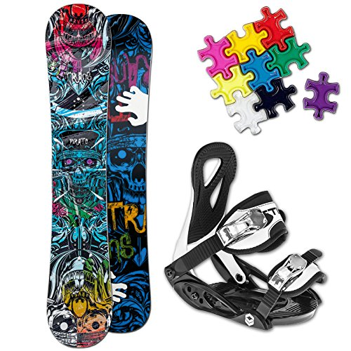 TRANS PIRATE BOY KINDER SNOWBOARD SET 2016 ~ 110 CM + ELFGEN JUNIOR BINDUNG +PAD