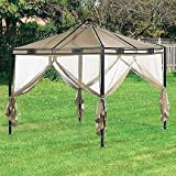 10 x 10 Trellis Roof Gazebo Replacement Canopy