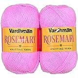 Vardhman Knitting Wool, Pack Of 2 (Pink) Rosemary (400 Gm)