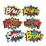 Cardboard Jumbo Superhero Word Cutouts (size: 26