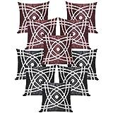 Abtractive Design Cushion Covers Combo Brown & Black 40 X 40 Cms(10 Pcs Set)