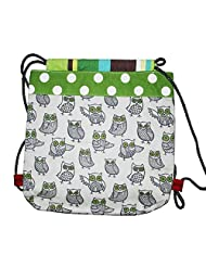 Kadambaby -wise Owl Canvas Drawstring Bag For Toddlers